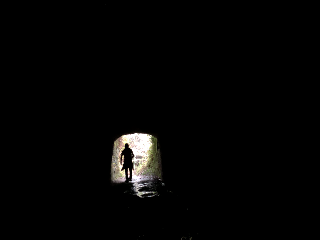 over the darkness tunnel.
