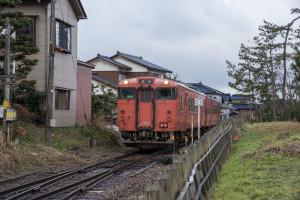 代赭色の電車