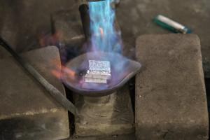 鋳物工房 利三郎 加熱開始