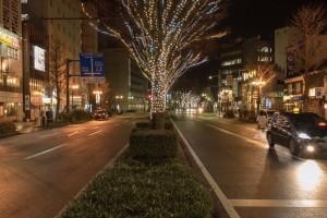 富山の街並み 夜