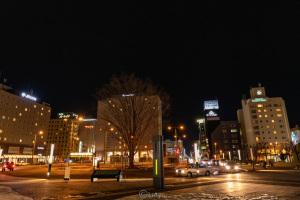 帯広駅前の夜景